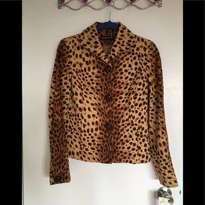 Jones New York leopard print jacket new 4P